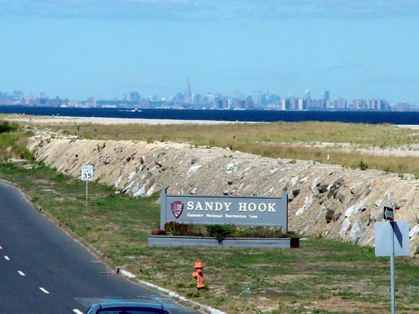 View of New York Skyline From Sandy Hook