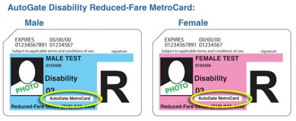 reduced fare autogate metrocard