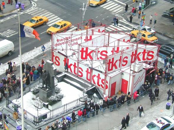 TKTS NY Times Square desde ariiba