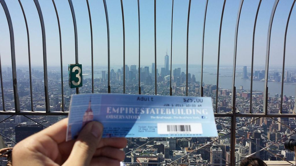 View From Top Deck Of Empire State Building