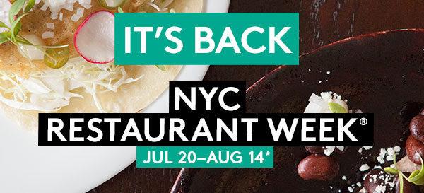 Resturant Week Summer NYC 2015