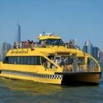 El NY Waterway y el NY Water Taxi : transporte público y cruceros a la vez