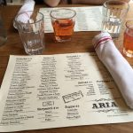 Aria Wine Bar, un restaurante italiano en West Village
