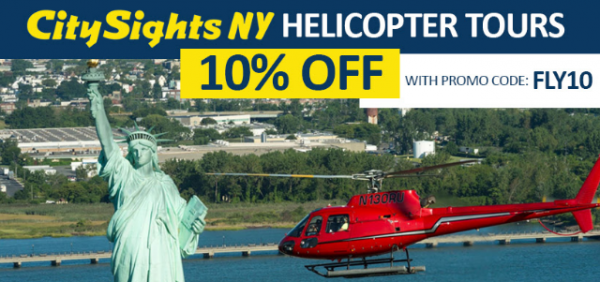 Helicopter tour promo code CitysightsNY