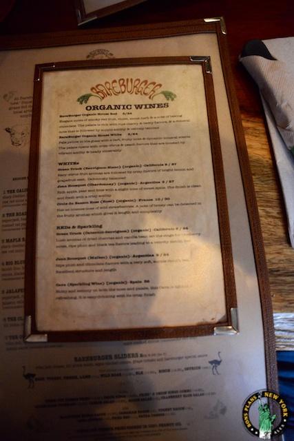 bareburger chelsea NY wines
