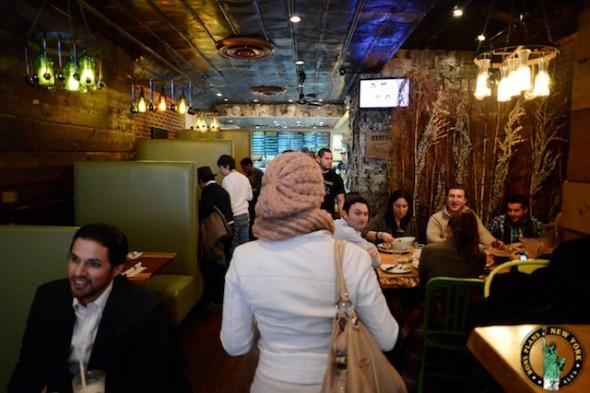 Bare burger chelsea NY sala
