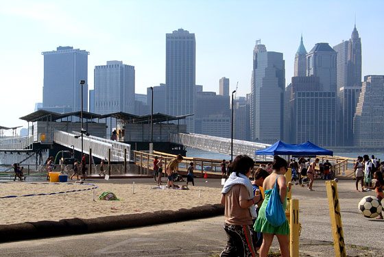 Brooklyn Bridge Park Beach