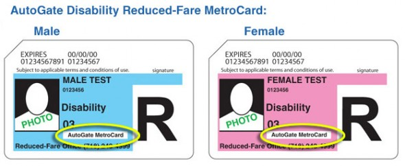reduced fare autogate metrocard