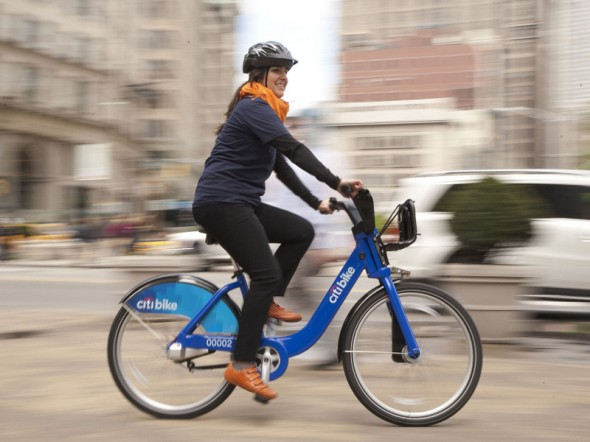 Citi Bike Nueva York mujer