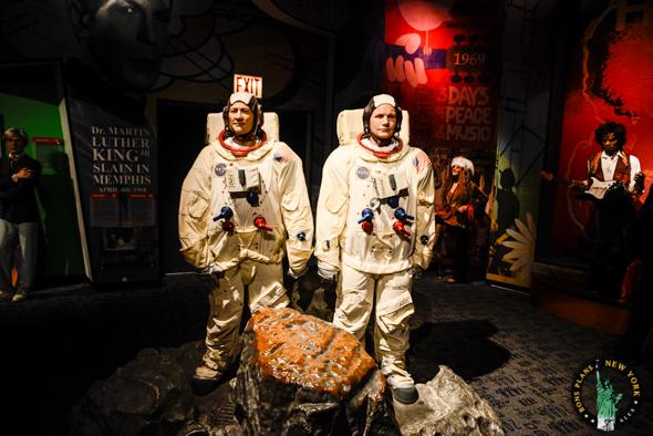 astronautas Tussauds MPVNY