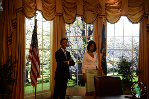 barack y michelle obama Tussauds MPVNY