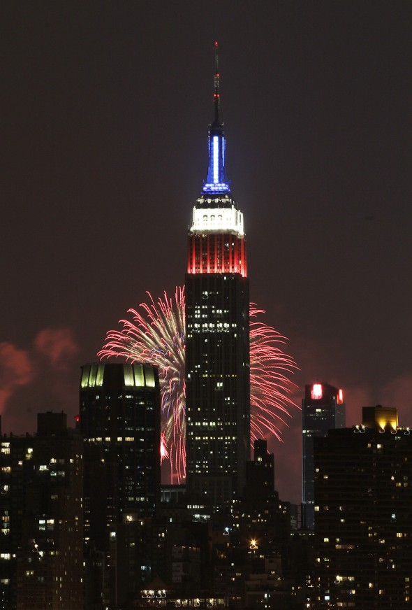 empire state building macy's fireworks 2013 NY