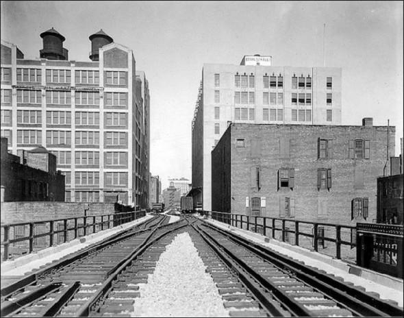 Las vías de Lower West Side y de la High Line ahora – 30'-hoy