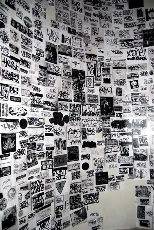 paper graffiti wall sticker street art ny