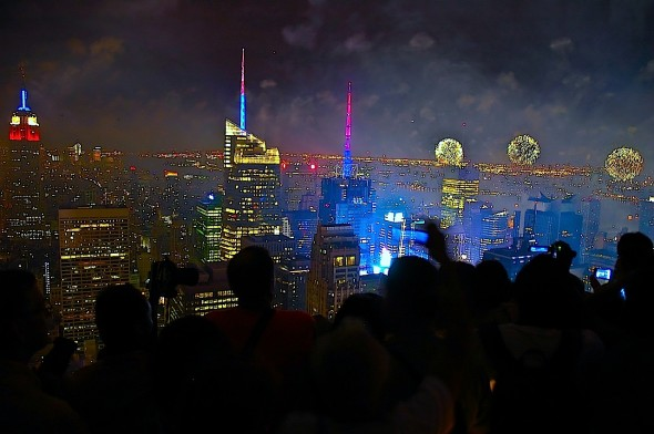 top of the rock macy's fireworks 2013 NY