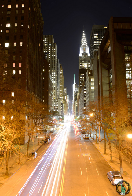 Chrysler building New York Night Photo Tour de Citifari 2