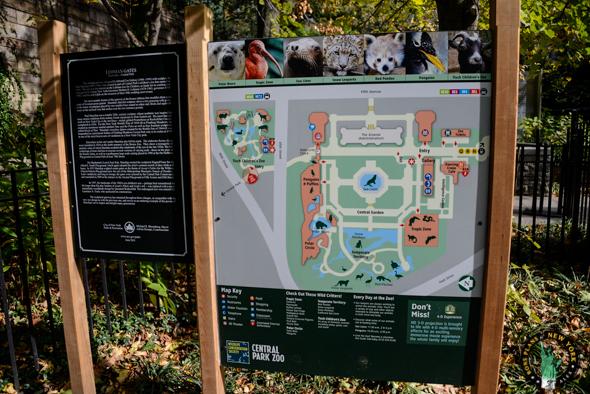 Zoo Central Park NY mapa del zoo