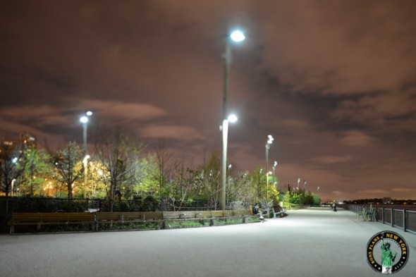 brooklyn bridge park new york noche