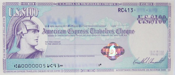 traveller cheque MPVNY