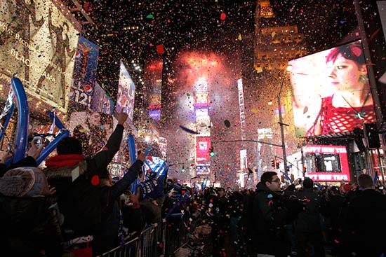 2 Times Square Ball Drop Nochevieja MPVNY