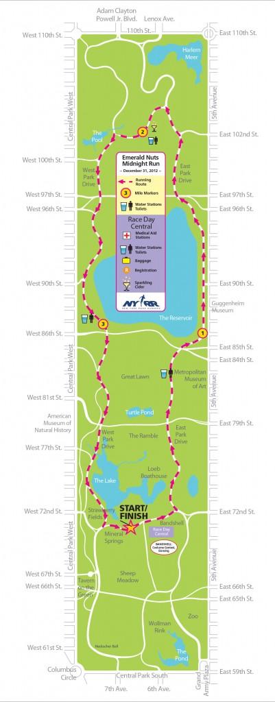 Emerald Nuts Midnight Run NY Mapa MPVNY