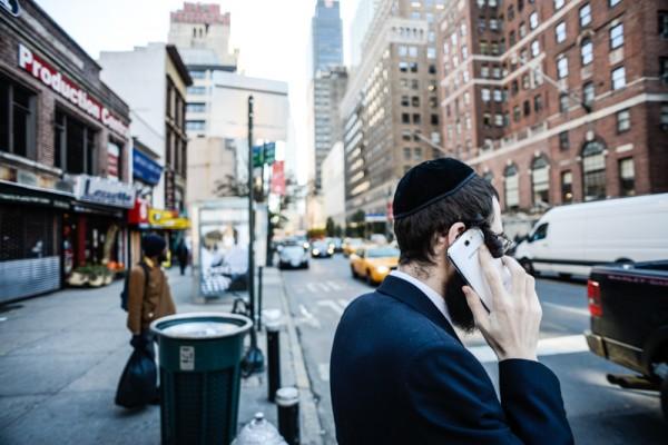 Teléfono móvil en NY 10