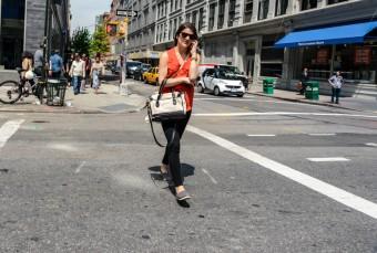 Teléfono móvil en NY