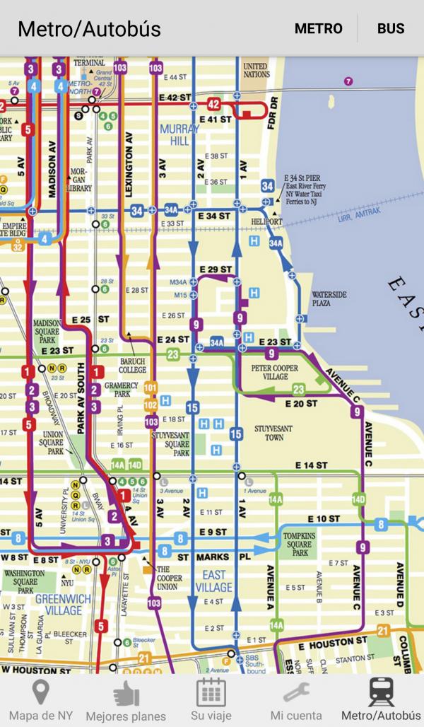 Mapa del autobús
